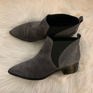 Marc Fisher suede booties - size 9